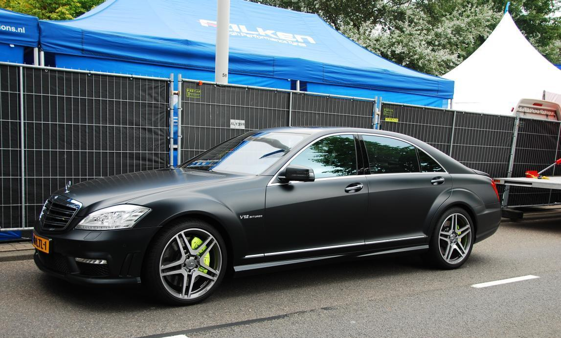 Power cars mercedes benz s 65 amg matte black for Mercedes benz matte black